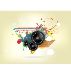 abstract music background with Sound Speaker vector image vector image