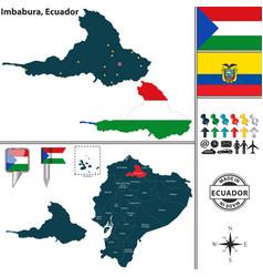map of imbabura ecuador vector image vector image