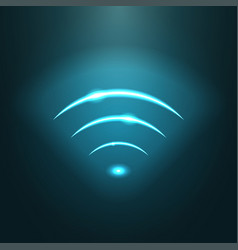neon modern wifi sign eps10 vector image