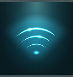 neon modern wifi sign eps10 vector image vector image