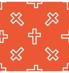 Orange christian cross pattern vector image