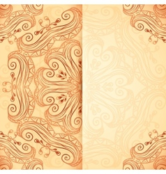 Ornate vintage template in Indian mehndi style vector image vector image