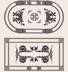 Set Of Frames vector image