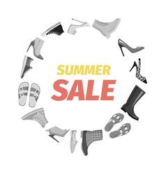 summer sale advertisement banner footgear vector image