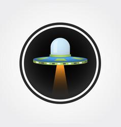 ufo icon logo vector image vector image