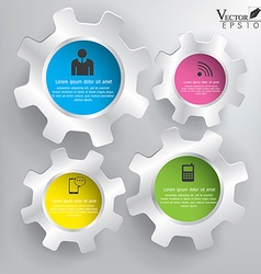 Abstract 3D Gears infographics vector image