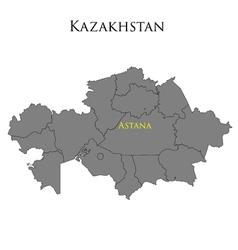 Contour map of kazakhstan 01 vector