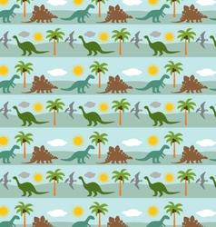 dinosaur stripe vector image