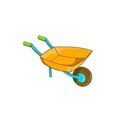 Garden wheelbarrow icon cartoon style vector image vector image