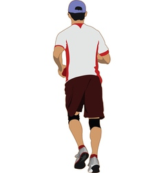 jogger vector image vector image
