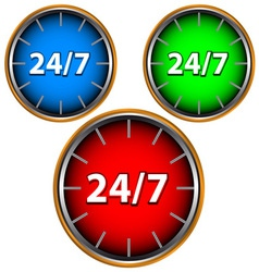 Three service icon vector image vector image