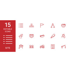 15 site icons vector image