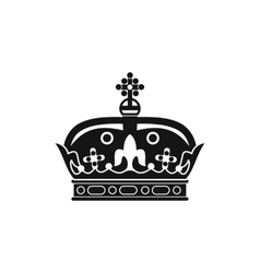 A royal crown icon simple style vector