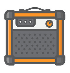 Amplifier filled outline icon music vector