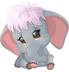 Beautiful cute elephant vector