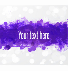 Big bright ultra violet grunge splashes on white vector