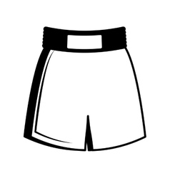 Boxing short clothes isolated icon vector