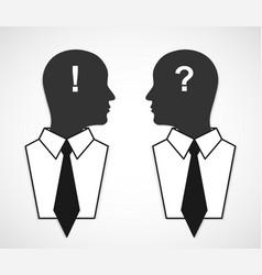 Business concept silhouette head Design elements vector