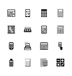 calculation - flat icons vector image