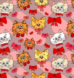 cats-with-bows vector image