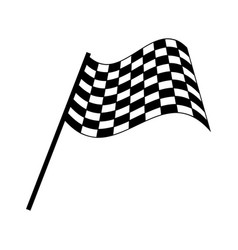Checkered race flag isolated on white background vector