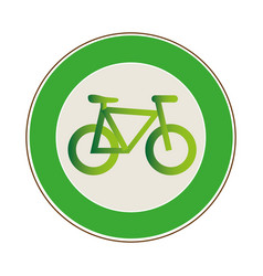 Circular frame with eco bike vector