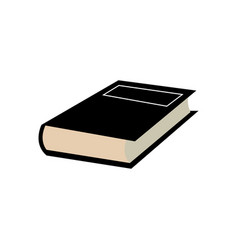 classic old book icon design template vector image
