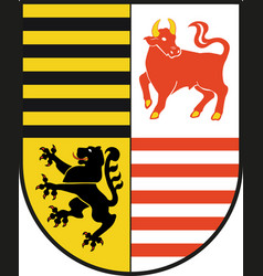 Coat of arms of elbe-elster in brandenburg germany vector