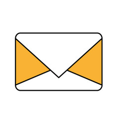 Color silhouette image of sealed envelope mail vector