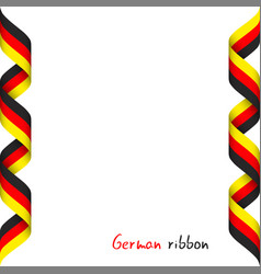colored ribbon with the german tricolor vector image