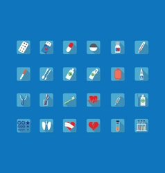 Colorful icons of medical subjects vector