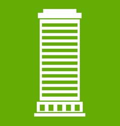 column icon green vector image