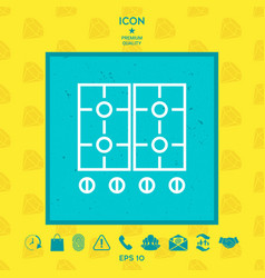cooking surface icon vector image