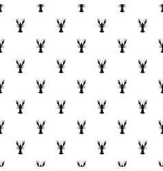 Crayfish pattern simple style vector image