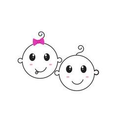 cute baby logo icon design vector image