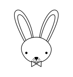 cute rabbit tender character vector image