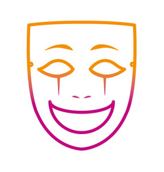 Degraded line face mask entertainment carnival vector