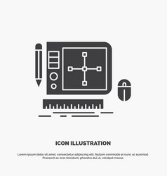design graphic tool software web designing icon vector image