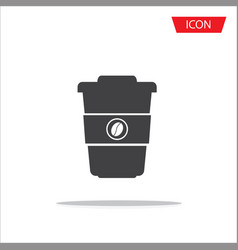 disposable coffee cup icon isolated on white vector image