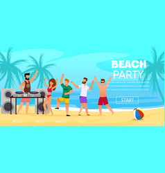 dj play music outdoors at beach party vector image