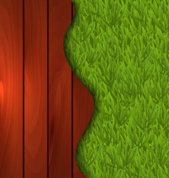 Eco design - freshness spring green grass and vector