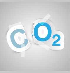ector about the air pollution vector image