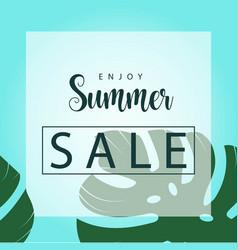 Enjoy summer sale template design vector