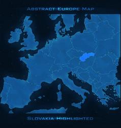 Europe abstract map slovakia vector