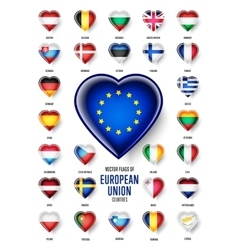 European union country flags icon vector