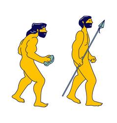 Evolution darwin theory concept cro-magnon vector
