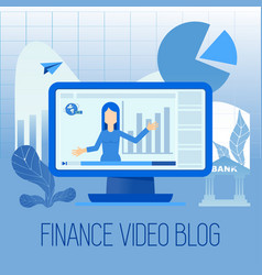 finance video blog vector image