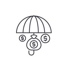 financial insurance line icon concept financial vector image