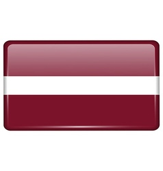 Flags Latvia in the form of a magnet on vector
