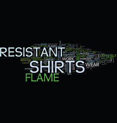 Flame resistant t shirts text background word vector